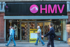 Chain of entartainment stores 'HMV' relaunches in Ireland. Stock Photography
