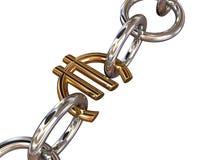 chain eurowhite Royaltyfria Foton