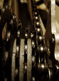 Chain of Events. Bike chain macro Royalty Free Stock Images