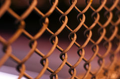 Chain Fence At Night Royalty Free Stock Photography