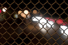 Chain Fence with Bokeh Royalty Free Stock Photos