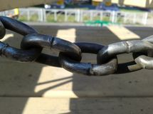 Chain fence stock image