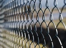 Chain fence detail Stock Image