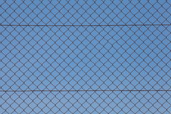 Chain Fence, Iron wire fence. Royalty Free Stock Photos