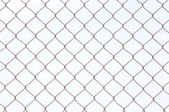 Chain Fence, Iron wire fence. Stock Photography