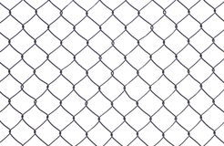Chain Fence, Iron wire fence. Stock Photos