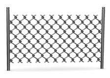 Chain fence with links Royalty Free Stock Photography