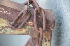 Chain on the fence. royalty free stock photos