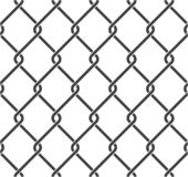 Chain fence. Seamless chain link fence. Steel wire mesh on white background. Vector illustration royalty free illustration