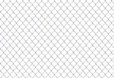 Chain Fence. Steel grid isolated on white Royalty Free Stock Images