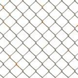 Chain Fence. Steel grid stock illustration