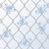 Chain Fence with water drop. Royalty Free Stock Image