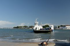 Chain Ferry Across Poole Harbour Near Sandbanks, Dorset Royalty Free Stock Images