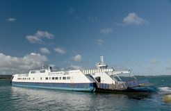 Chain Ferry Across Poole Harbour Near Sandbanks, Dorset Stock Photos
