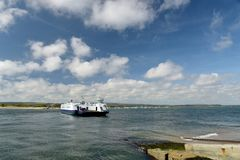 Chain Ferry Across Poole Harbour Near Sandbanks, Dorset Royalty Free Stock Image