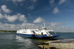 Chain Ferry Across Poole Harbour Near Sandbanks, Dorset Royalty Free Stock Photos