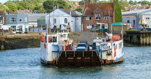 Chain ferry boat over a river connecting the town of Cowes, Isle of Wight Royalty Free Stock Image