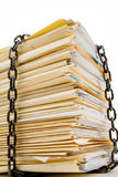 Chain and file stack Stock Photography