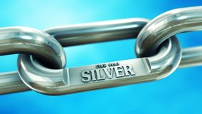 Silver fine chain close up Royalty Free Stock Image
