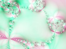 Chain of flowers. Fractal illustration Royalty Free Stock Images