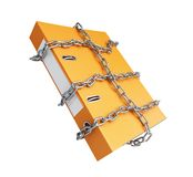 Chain folder. On a white background Stock Photo