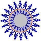 chain folk Arkivbild