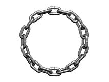 Chain in form of the circle Stock Photos