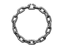 Chain in form of the circle with weak link. There is a clipping path Stock Photo