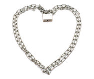 Chain  in the form of heart Stock Photos