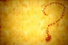 Chain forms question mark copy space background Royalty Free Stock Photo