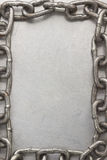 Chain frame on metal  texture Royalty Free Stock Photography