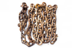 Chain frame vintage. Chain is rust for vintage frame Royalty Free Stock Photo