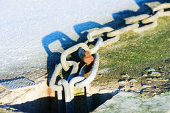 Chain in frost Stock Photo
