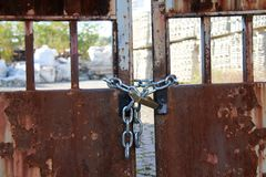Chain gate Stock Photography