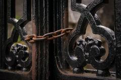 Chain on gates Royalty Free Stock Photography