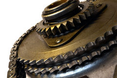 Chain and gear Royalty Free Stock Images