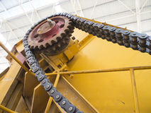 Chain with gear Stock Images