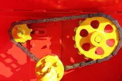 Chain gear train Royalty Free Stock Photos