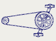 Chain gears Royalty Free Stock Images
