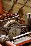 Chain gears transmission Stock Image