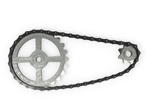 Chain and gears Stock Photos