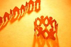 chain gemenskapgrannskappapper Royaltyfri Fotografi