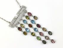 chain gemstonehängekortslutning Royaltyfria Bilder