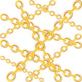 Chain from gild Stock Image