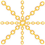 Chain from gild. On white background is insulated vector illustration