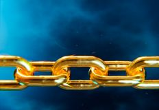 Chain of gold Royalty Free Stock Photo