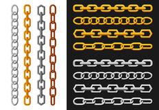 Chain, gold, silver. Stock Images