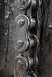 chain greasy arkivbild