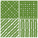 Chain green ivy pattern Stock Photos