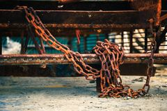 The Chain is on the ground. royalty free stock images